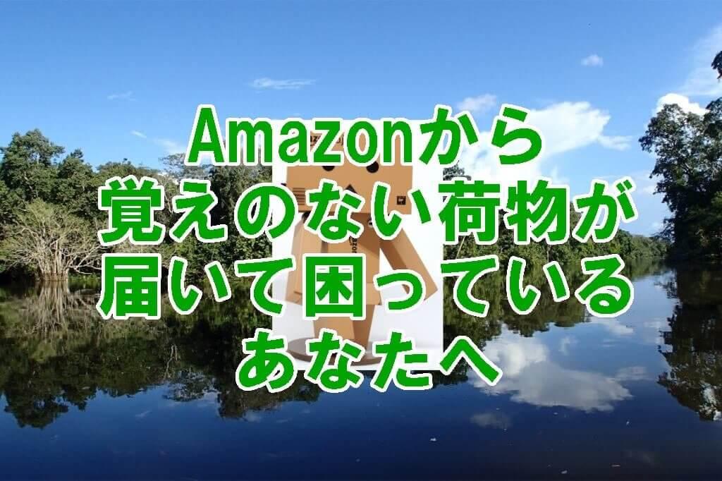 Amazonから覚えのない荷物が届いて困っているあなたへ