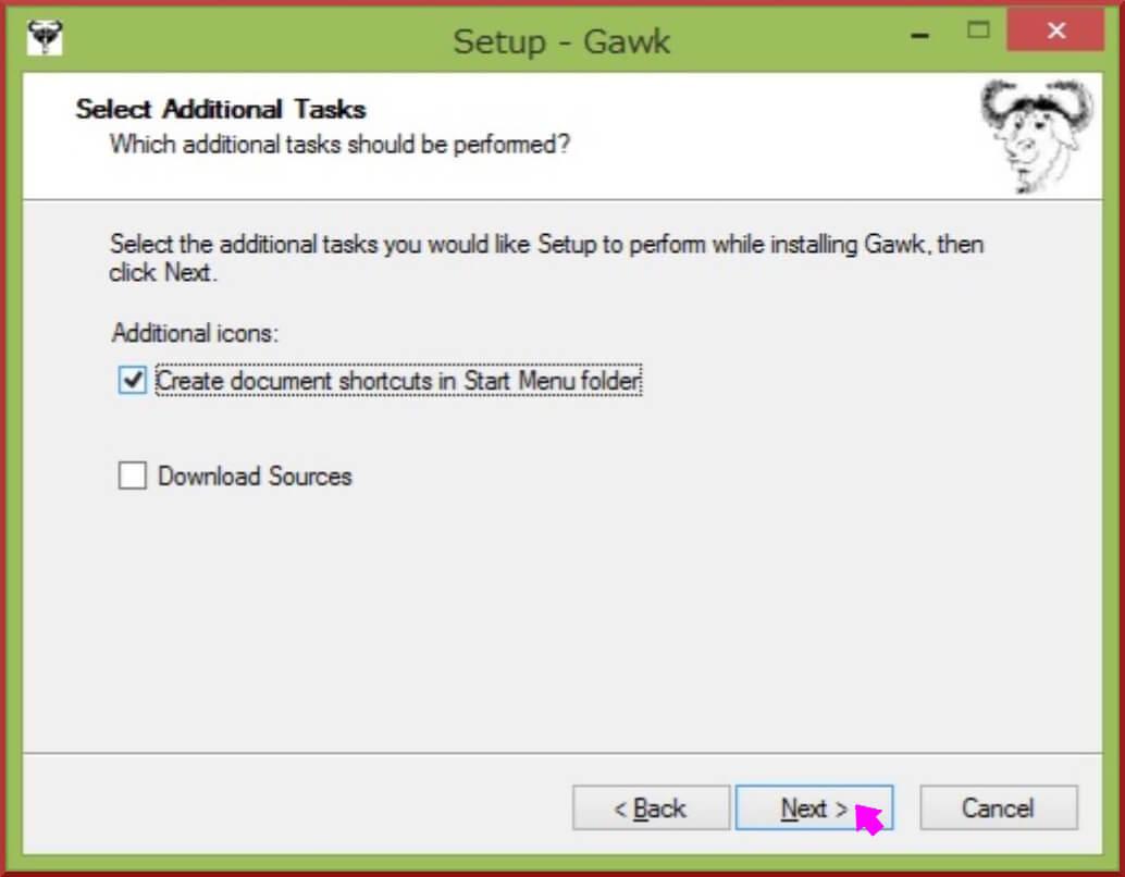 gawk1.3.6 インストール中