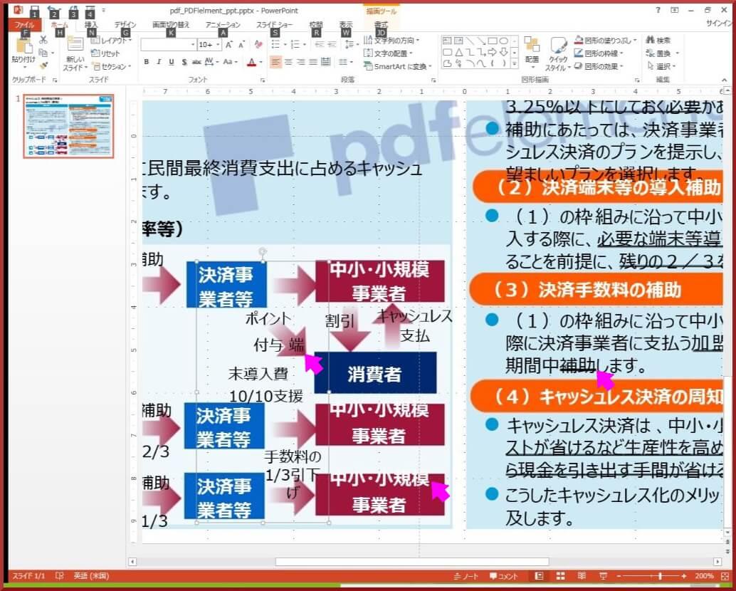 PDFelement PPT変換