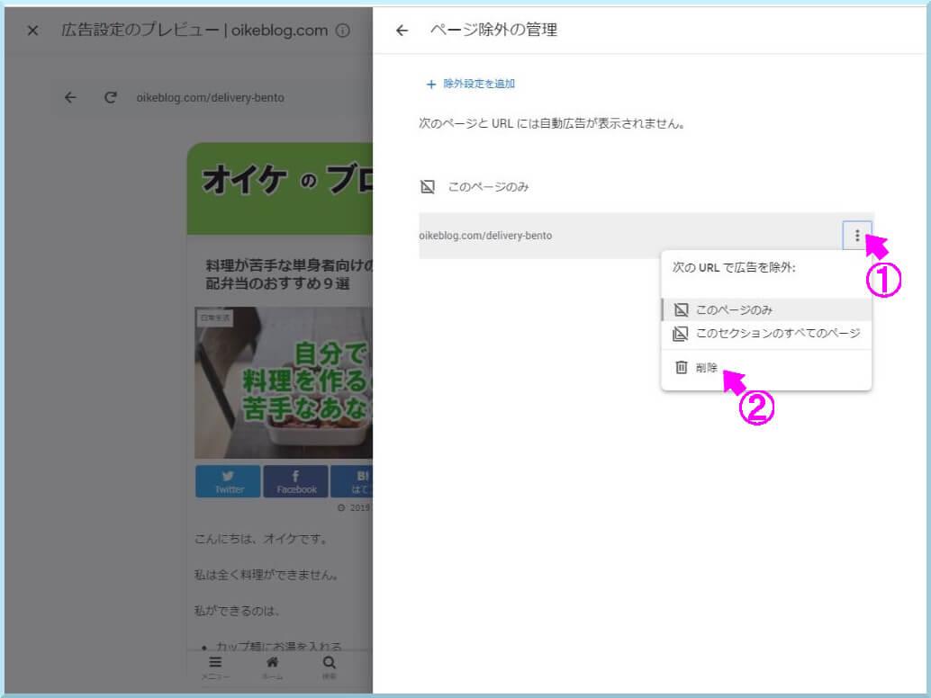 AdSense自動広告ページ除外_4