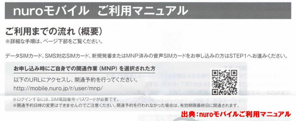 nuroモバイル 開通作業URL